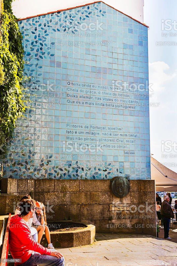 Memorial to an artist Teofilo Carneiro stock photo