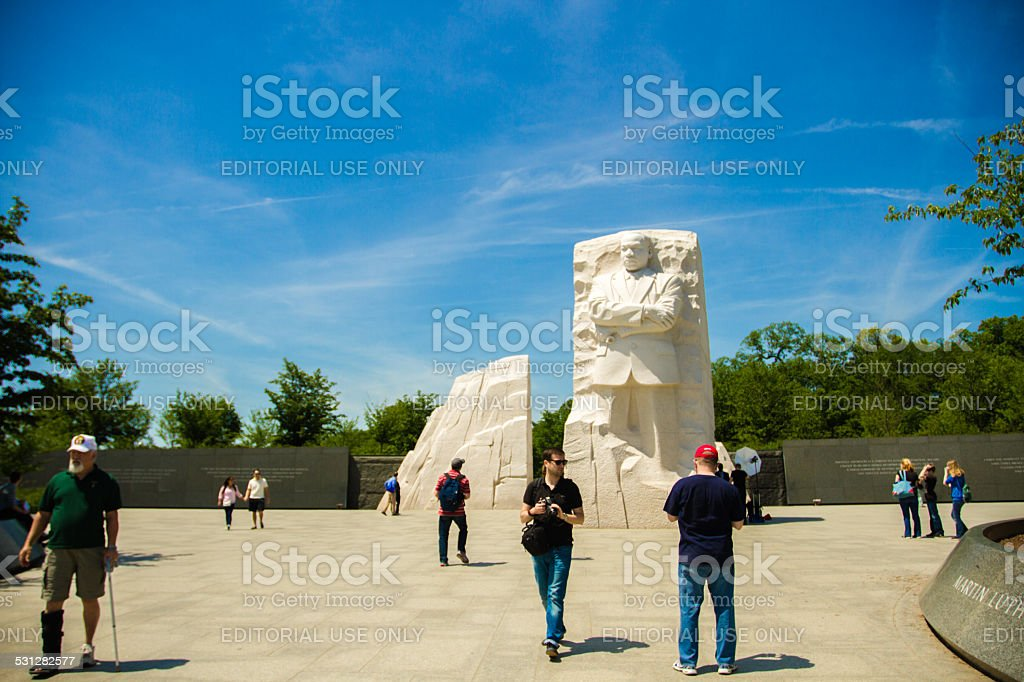 Memorial to Dr. Martin Luther King in Washington DC stock photo