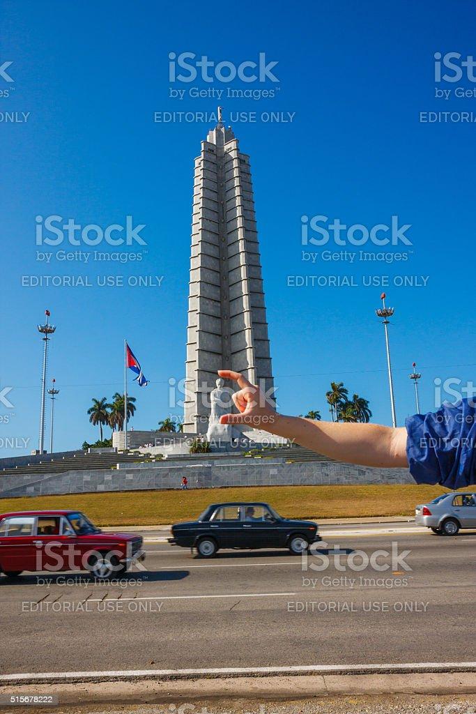 Memorial to Jose Marti in Havana city stock photo