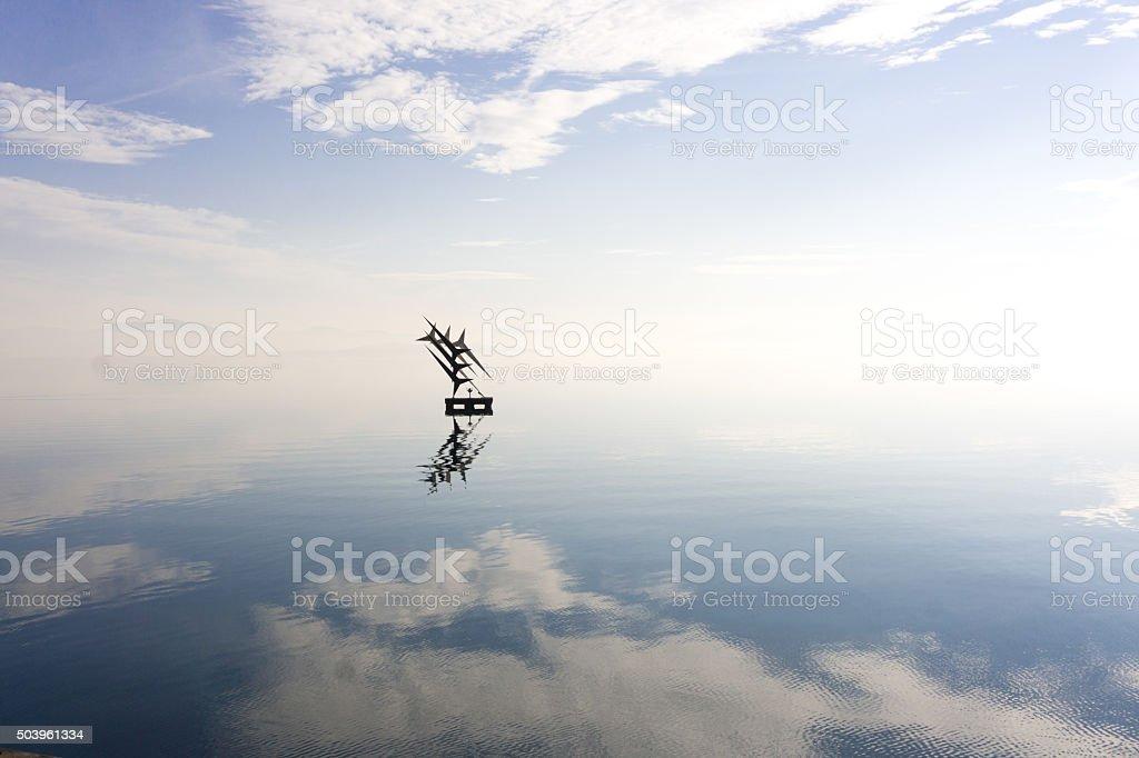 Memorial to Student Pilots Lake Trasimeno stock photo