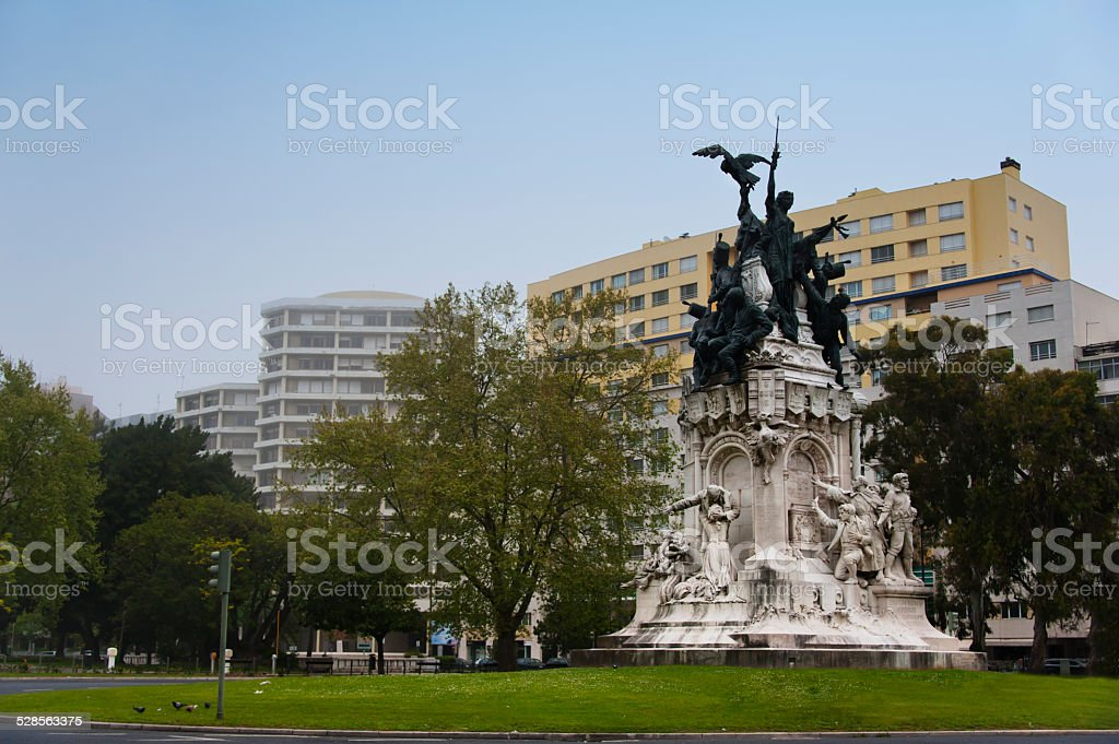 Memorial to the Heroes of the Peninsular War, Lisbon stock photo