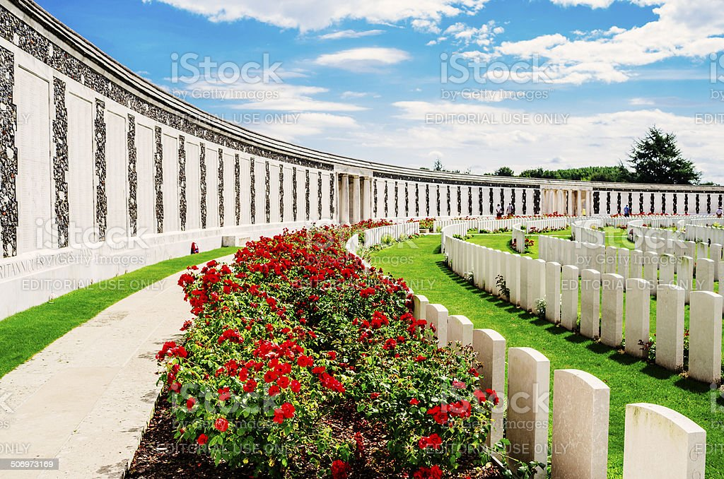 Memorial to the Missing, Passchendaele stock photo