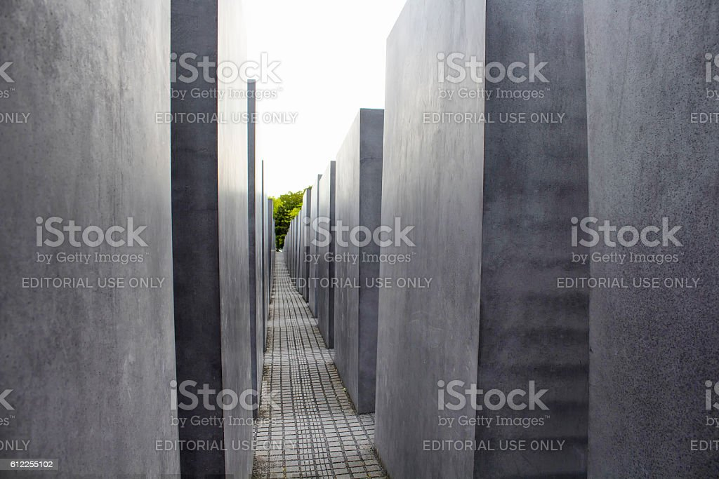 Memorial to the murdered Jews of Europe stock photo