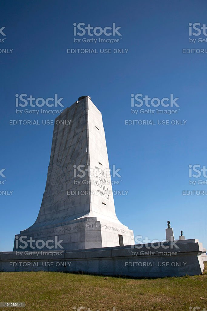 Memorial to Wright Brothers stock photo