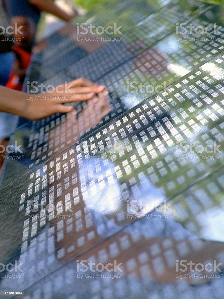 Memorial Wall for September 11 stock photo