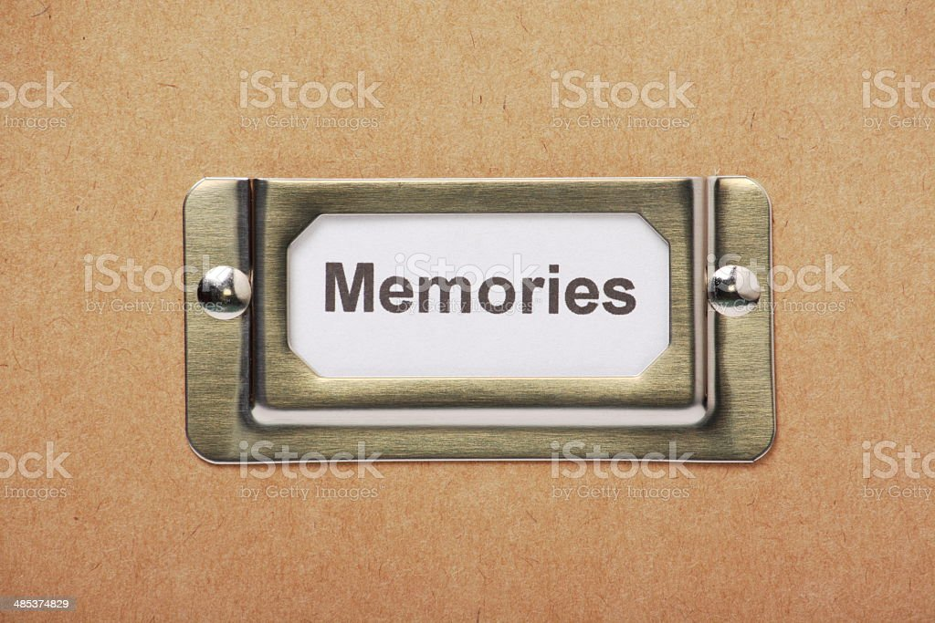 Memories Drawer stock photo