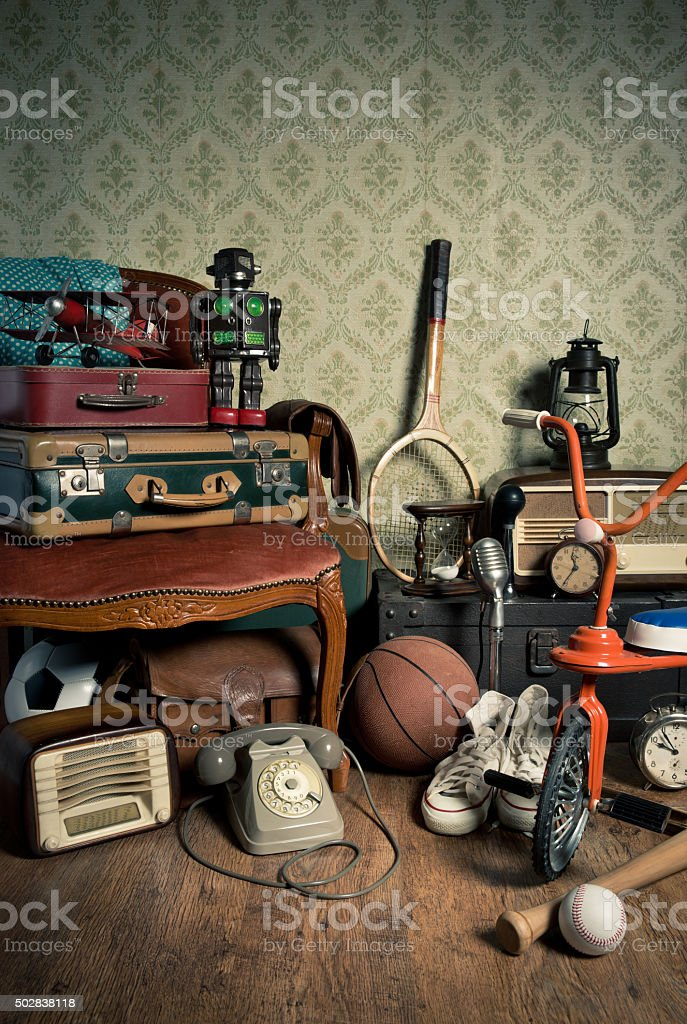 Memories from the attic stock photo