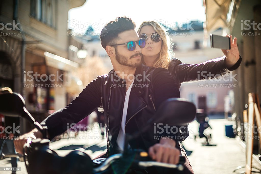 Memories in motion stock photo