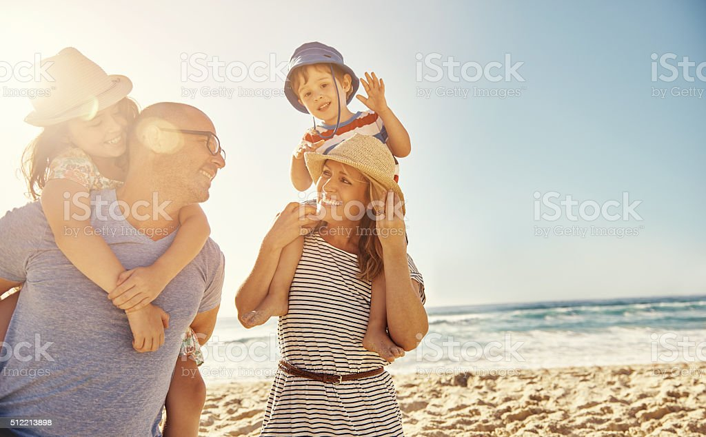 Memories made at the beach last a lifetime stock photo