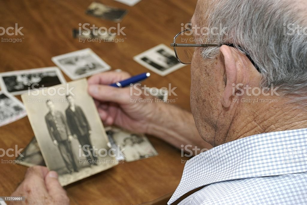 Memories of An Old Man royalty-free stock photo