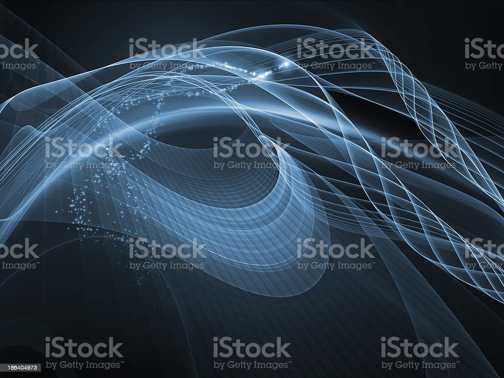 Memories of Fractal Realms royalty-free stock photo