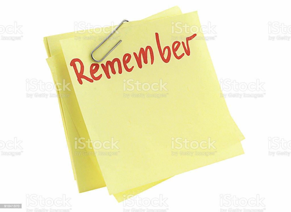 memorize paper sheet stock photo