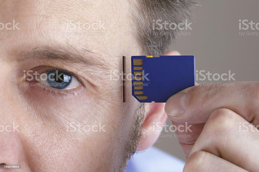 Memory and brain upgrade stock photo