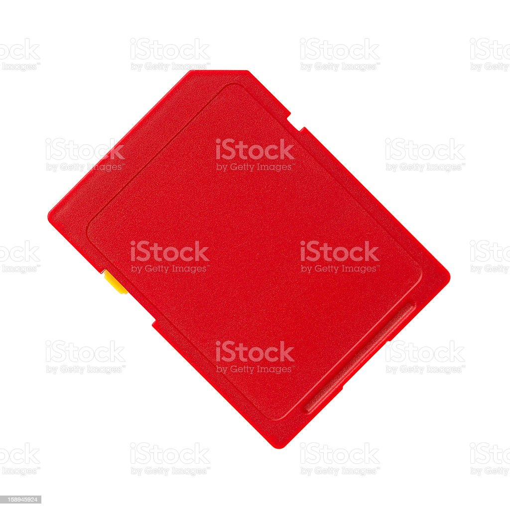 Memory card on a white background royalty-free stock photo