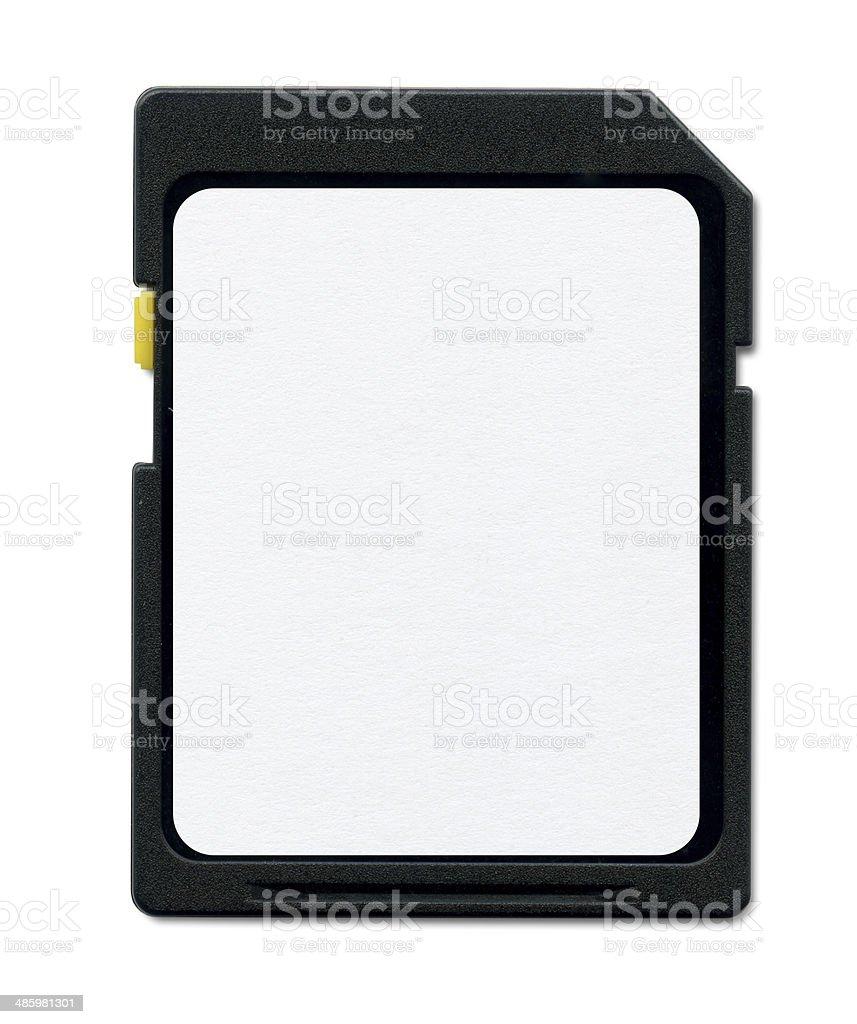 SD memory card stock photo