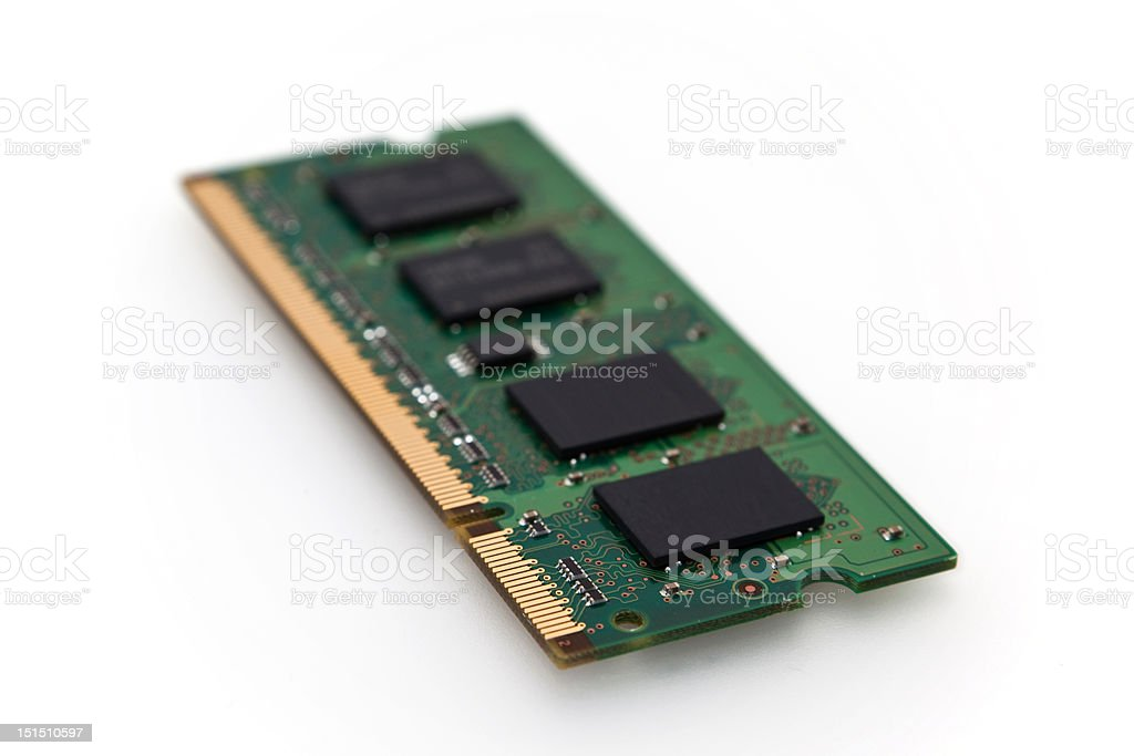 Memory chip isolated royalty-free stock photo