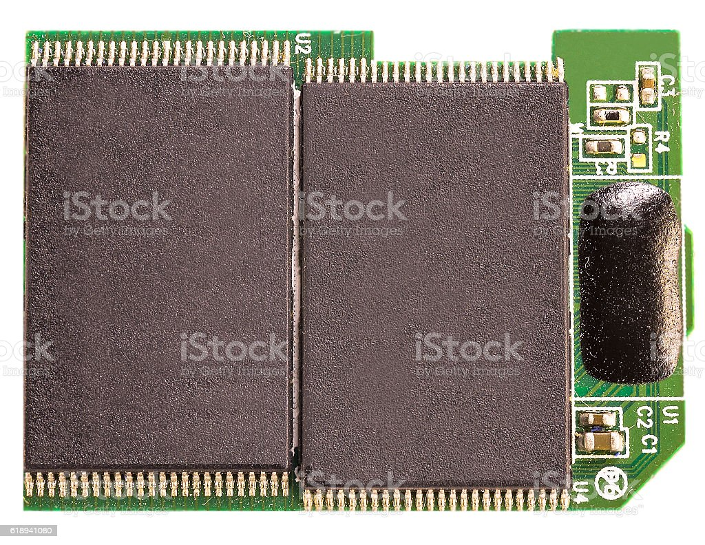 Memory electronic chip for computer stock photo