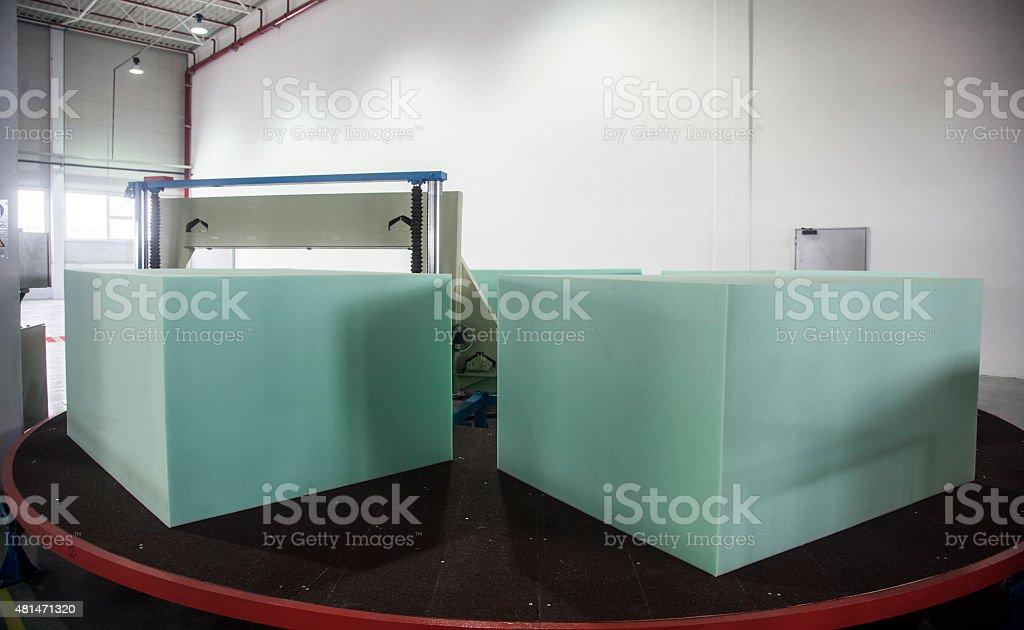 Memory foam mattress stock photo