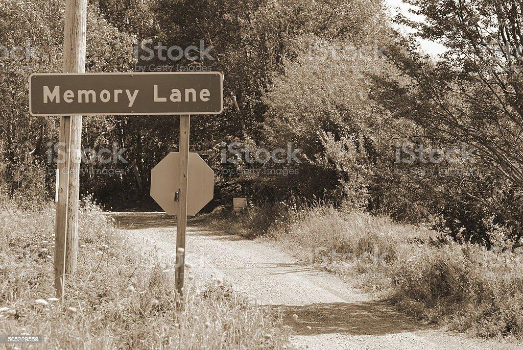 Memory Lane in Sepia stock photo