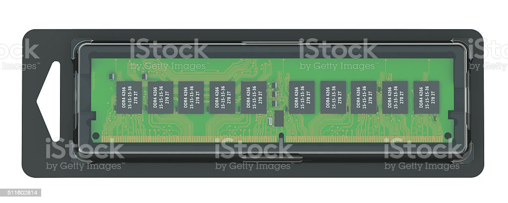 memory module in the pack stock photo