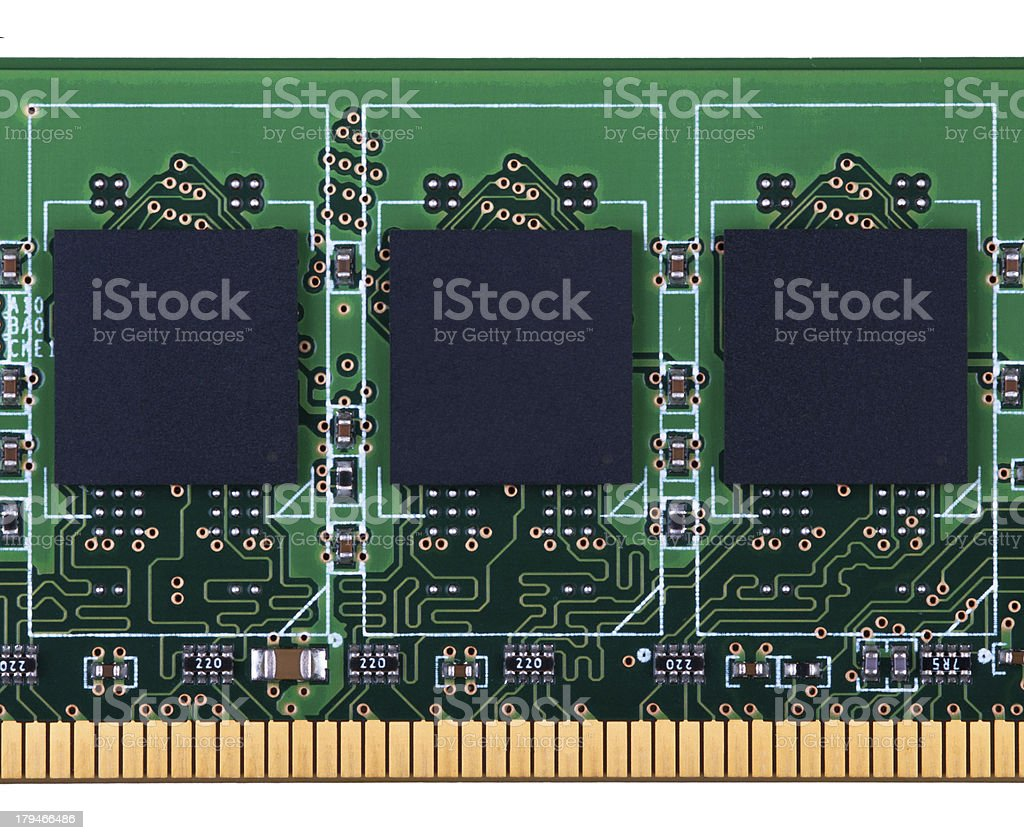 RAM memory module stock photo