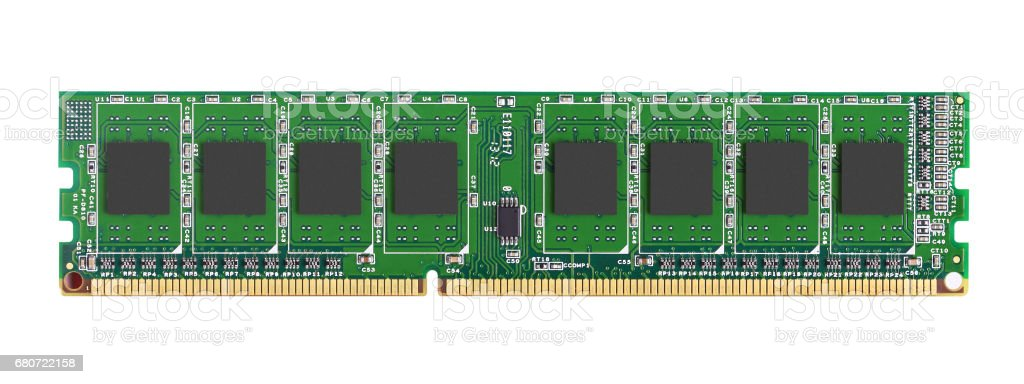 DDR RAM memory module stock photo