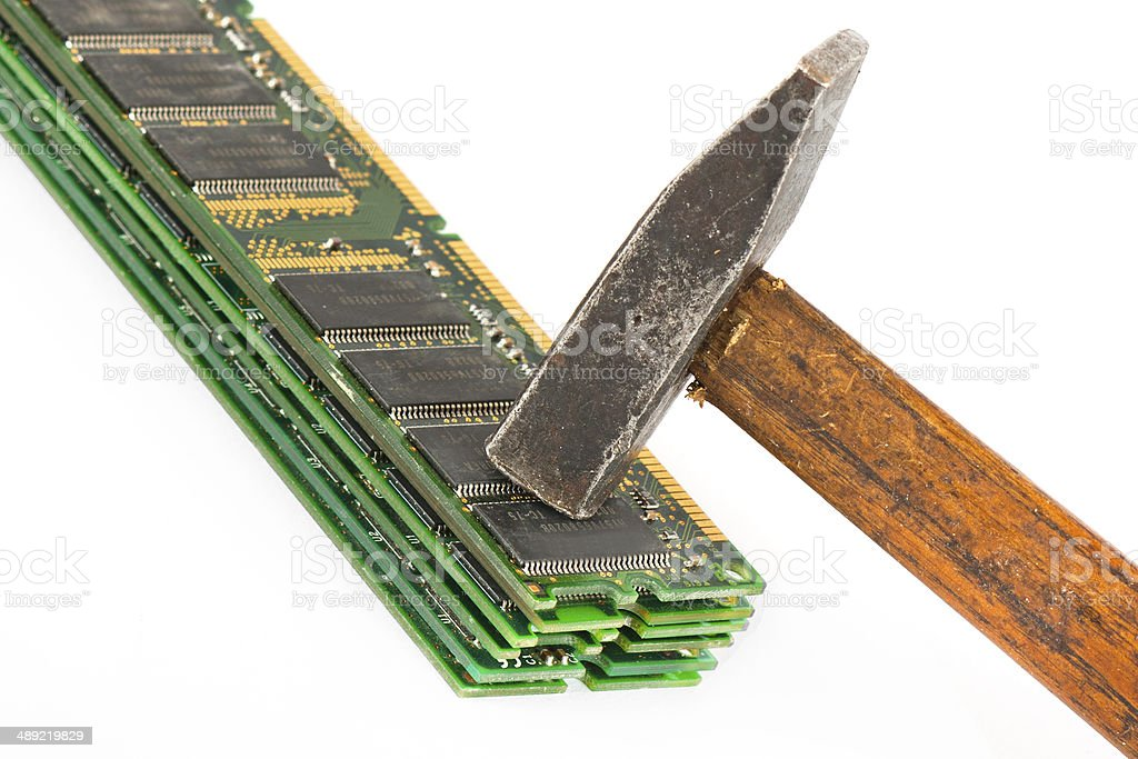 Memory modules stock photo