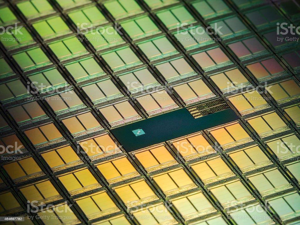 Memory Modules Wafer Macro stock photo