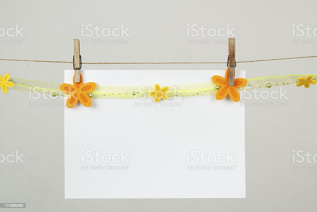 Memory note paper with flowers royalty-free stock photo