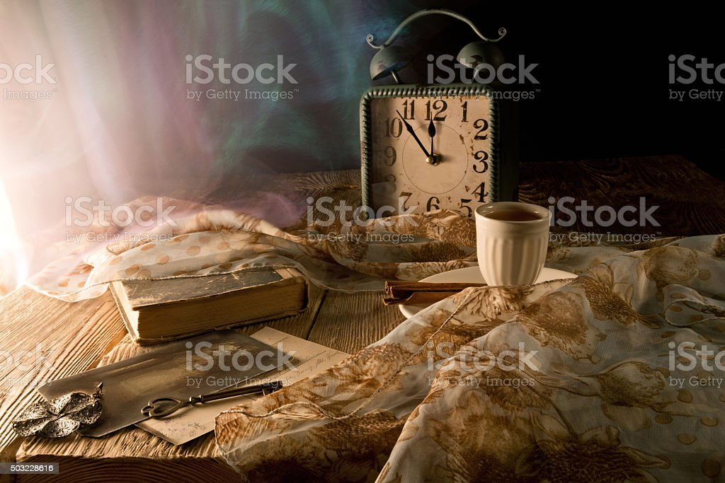 Memory of the past is still life in retro style. stock photo