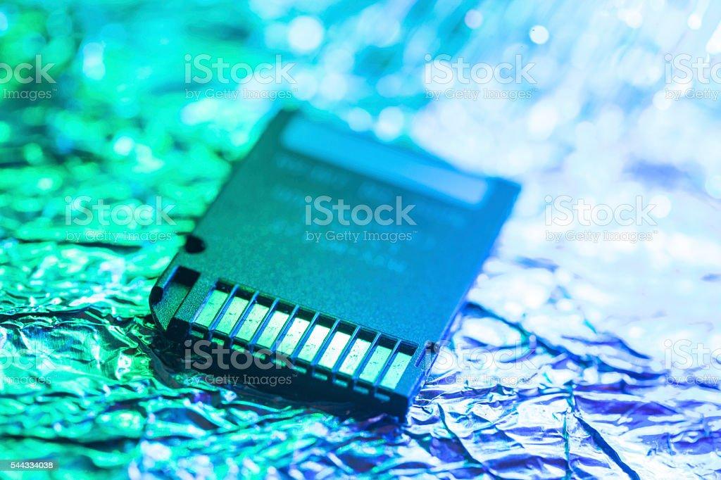 Memory SD card macro shot stock photo