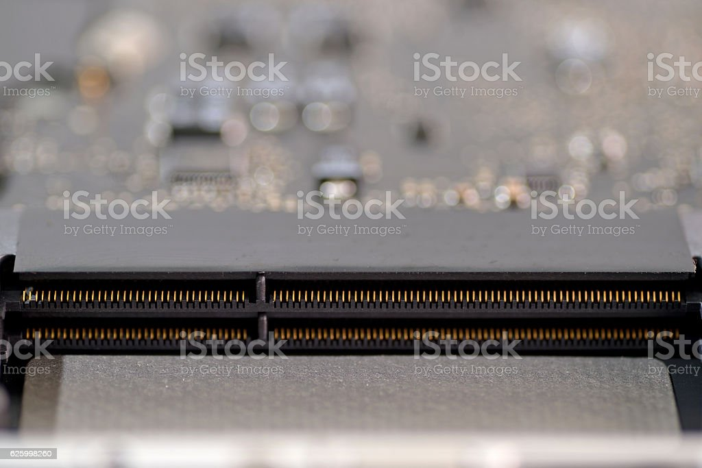 memory slot stock photo