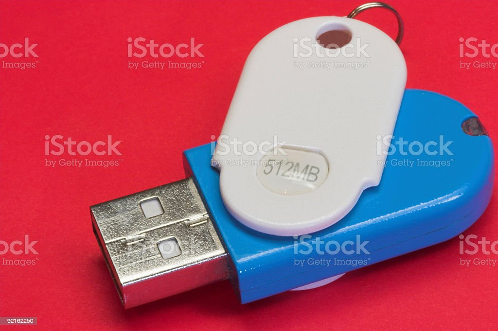 Memory stick on red royalty-free stock photo