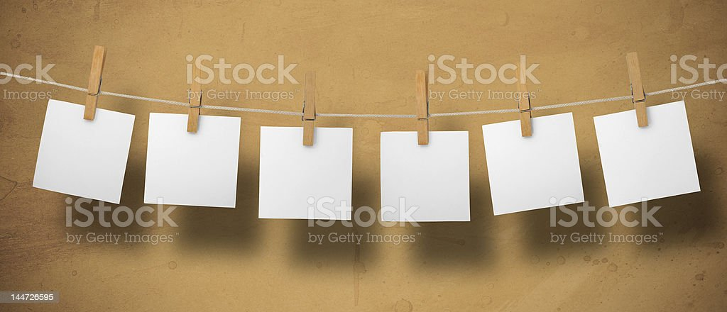 Memos on a leash stock photo