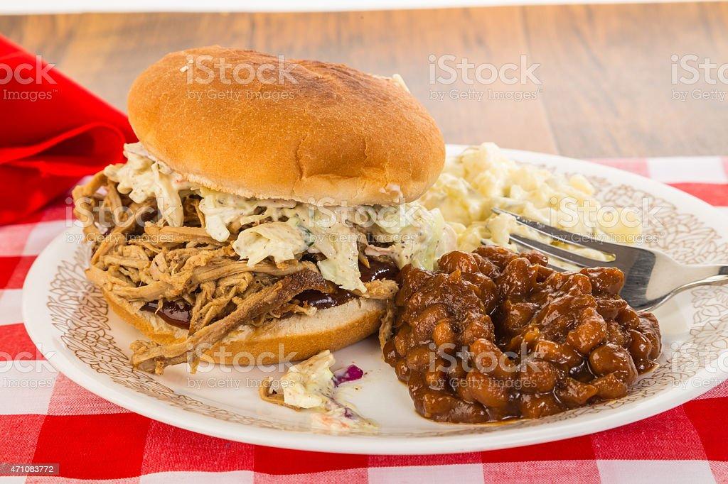 Memphis Barbecue Sandwich stock photo