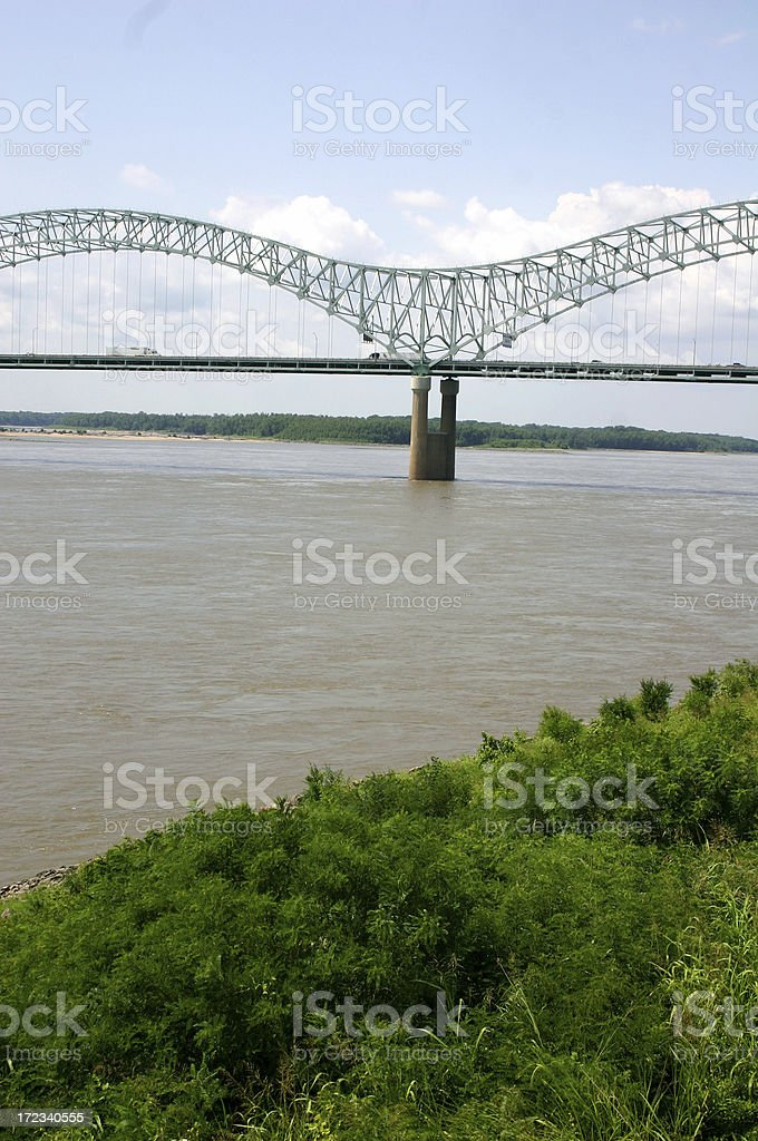 Memphis Bridge royalty-free stock photo