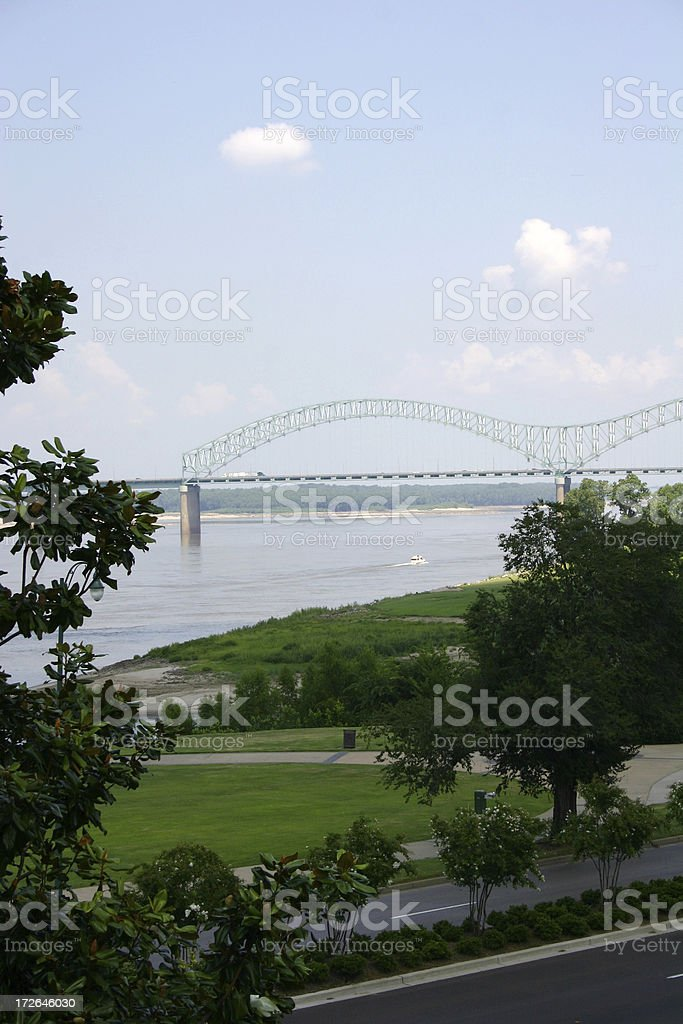Memphis Bridge Vertical royalty-free stock photo