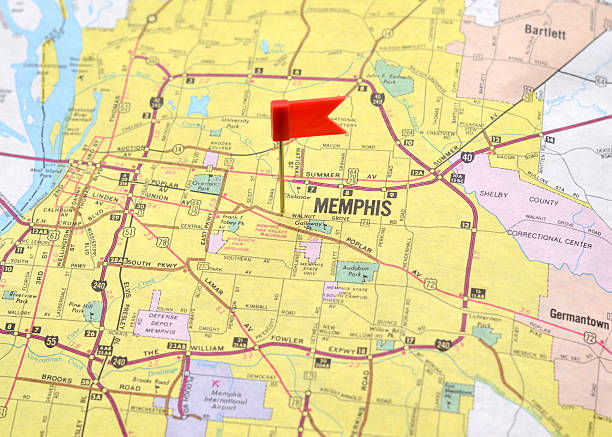 Memphis Map Tennessee Usa Pictures Images And Stock Photos IStock - Memphison us map