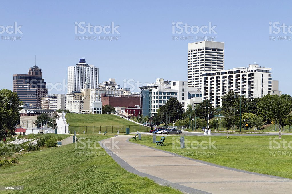 Memphis Park Downtown Skyline stock photo