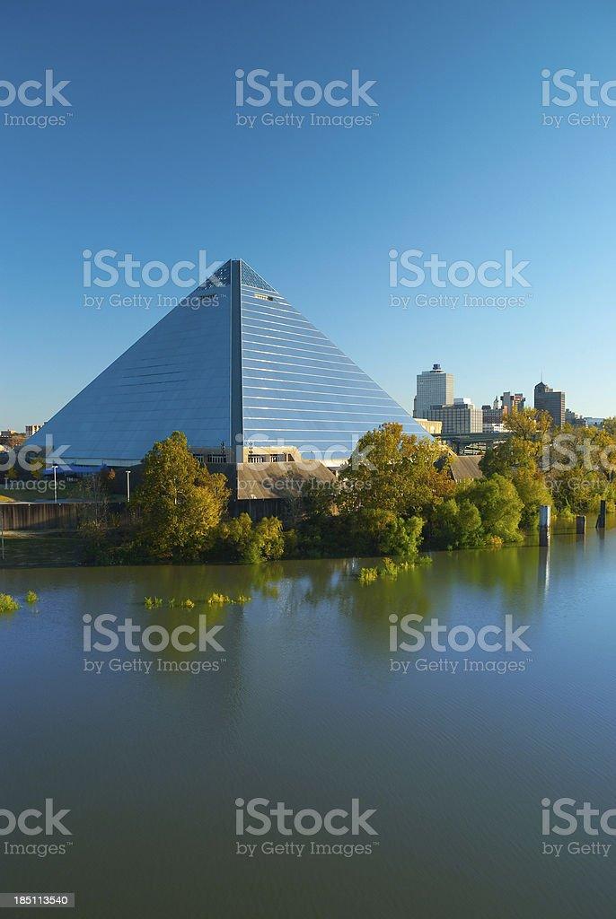 Memphis pyramid and skyline stock photo