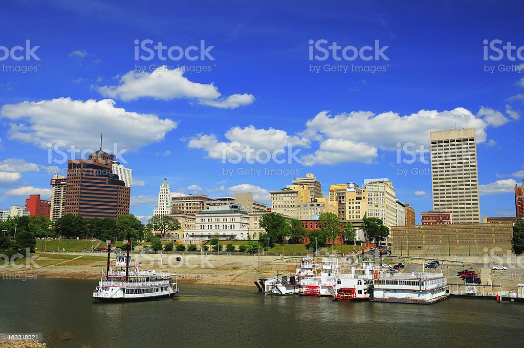 Memphis skyline and river stock photo