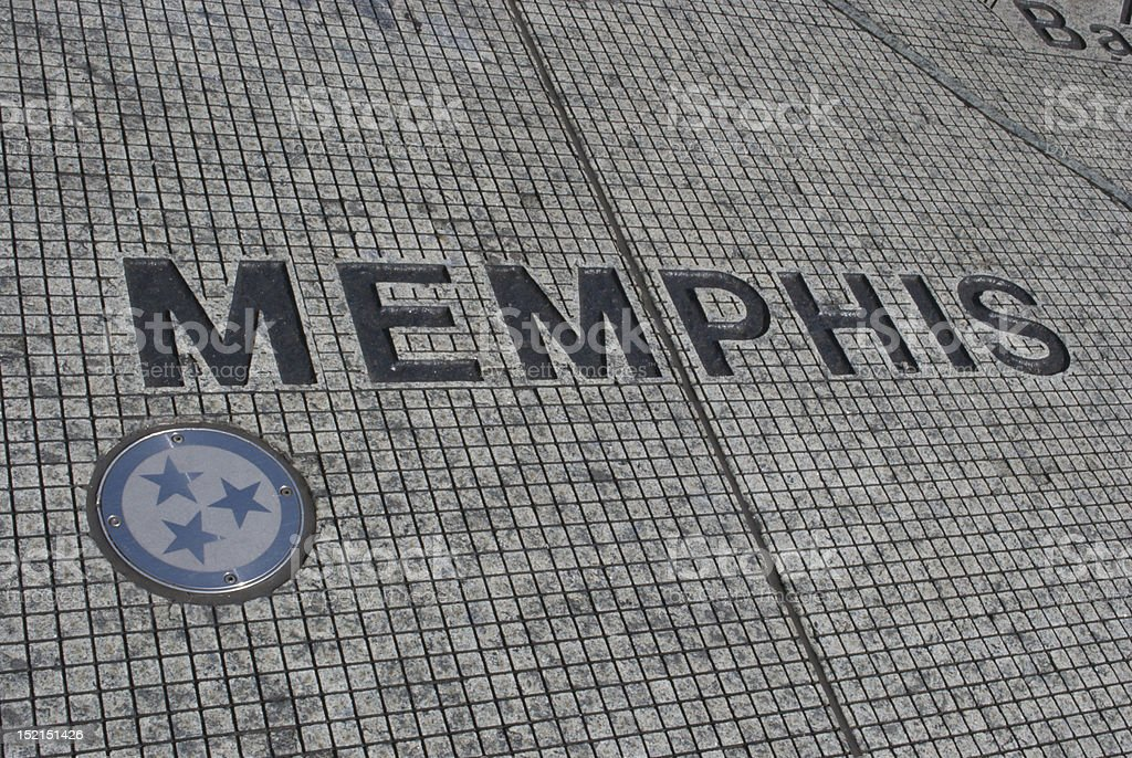 Memphis, TN on the map royalty-free stock photo