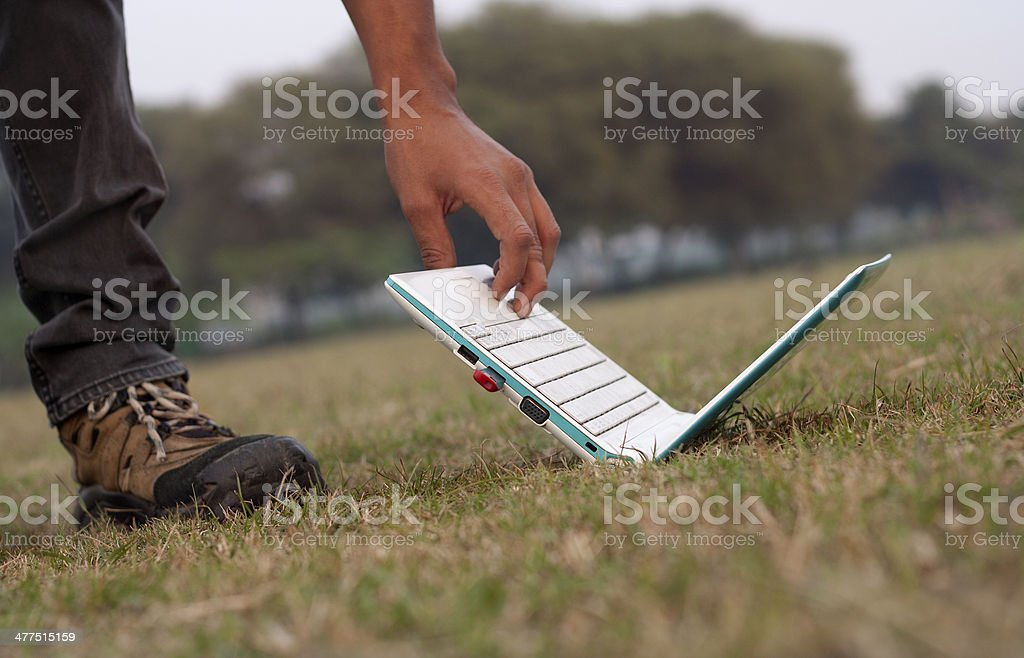 Men and Laptop royalty-free stock photo