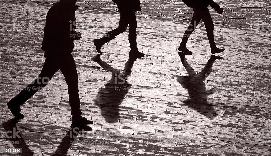 Men and shadows royalty-free stock photo