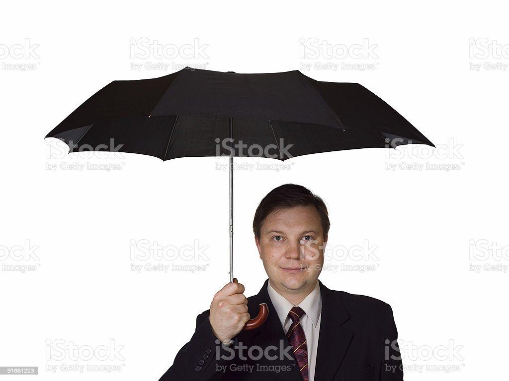 Men and umbrella royalty-free stock photo
