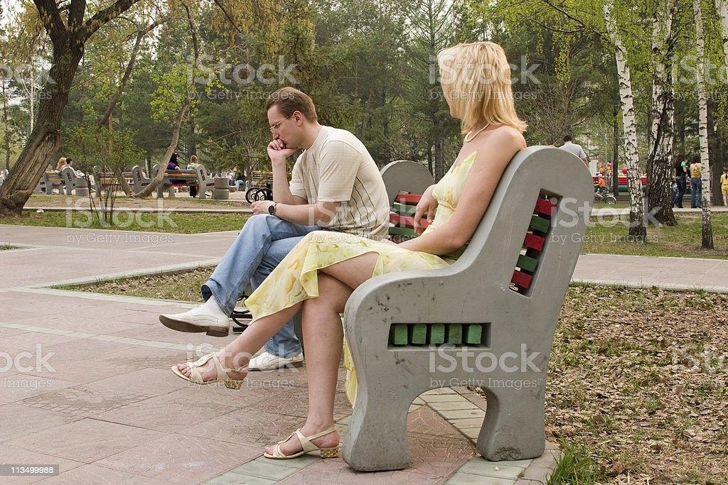 Men and women. Difficult mutual relations. royalty-free stock photo