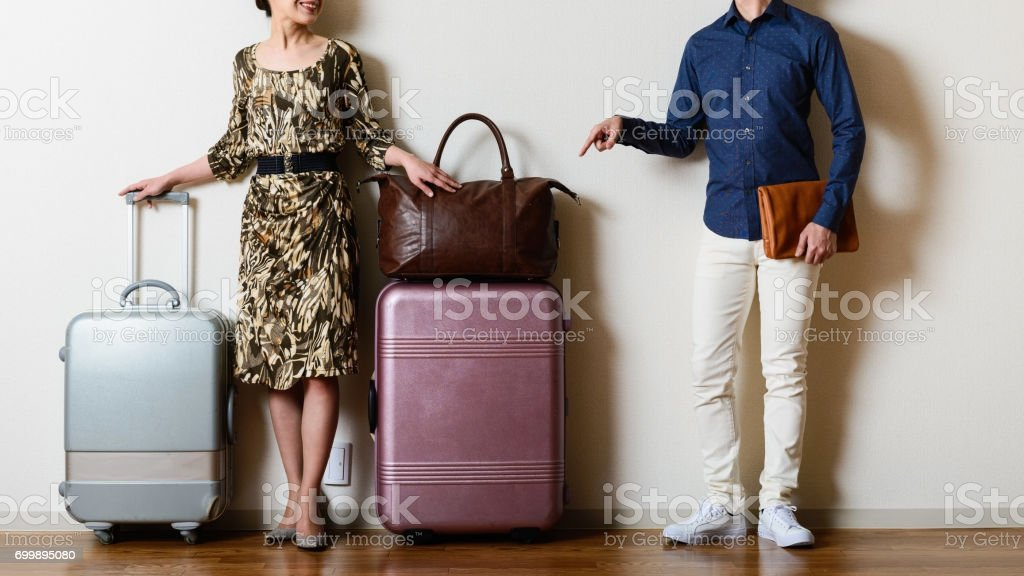 Men and women of travel image stock photo