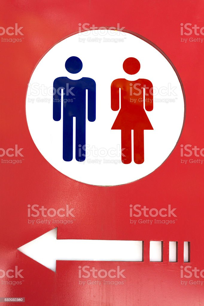 Men and women toilet sign stock photo