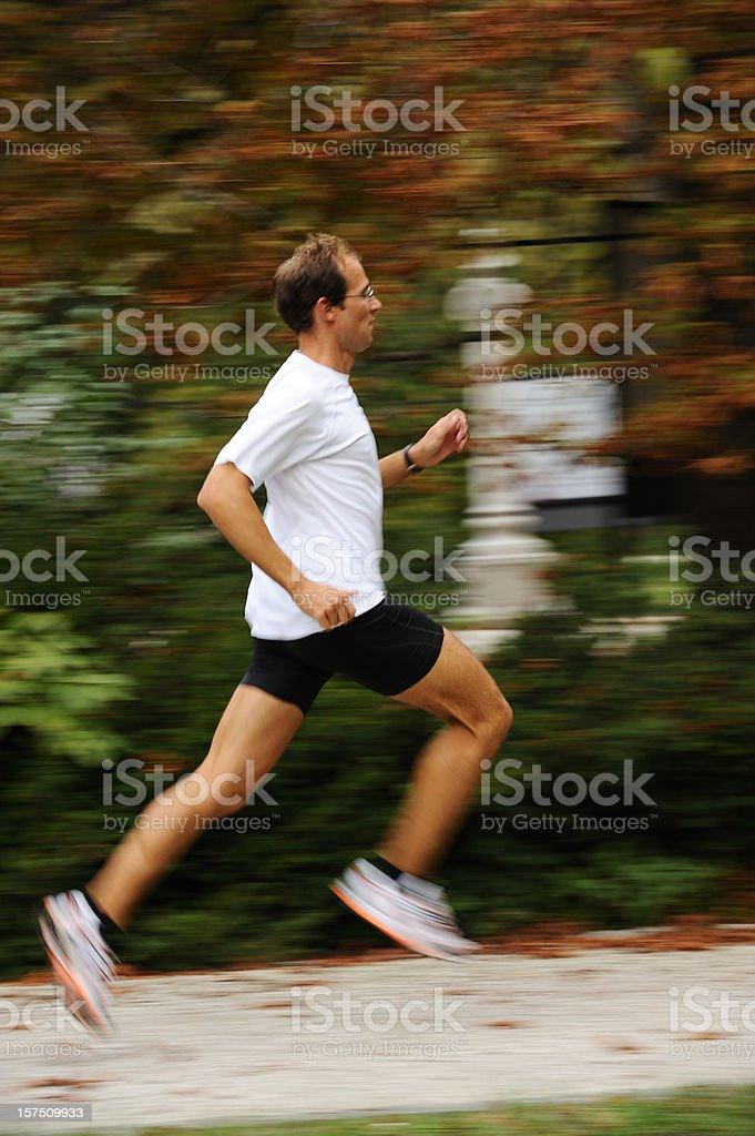 Men at jogging royalty-free stock photo