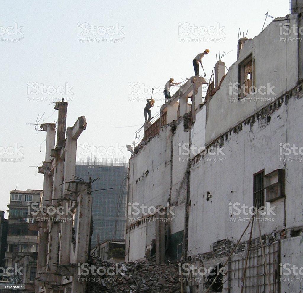Men at work in China royalty-free stock photo